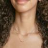 Rose Gold-2^Diamond Bar Necklaces: Reese Brooklyn Knife-Edge Curve Necklace in Yellow Gold