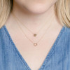 Yellow Gold-2^Designer Diamond Necklaces: Lulu Jack Open Disc Bezel Necklace in Yellow Gold