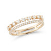Yellow Gold-1^Designer Diamond Rings: Ava Bea Double Row Ring in Yellow Gold