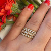 Yellow Gold-5^Designer Diamond Rings: Ava Bea Double Row Ring in Yellow Gold