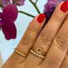 Rose Gold-3^Gold Initial Rings: DRD Single Initial Ring in Rose Gold