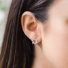 White Gold-2^Designer Stud Earrings: Taylor Beth Cutout Studs in White Gold