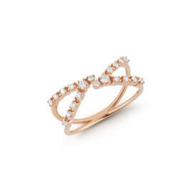 Rose Gold-1^Bypass Rings: Ava Bea Open Bypass Ring in Rose Gold