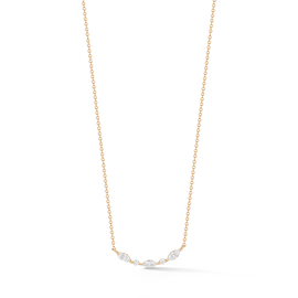 Diamond Bar Necklaces: Alexa Jordyn Marquise and Round Curve Necklace