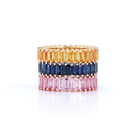 Eternity Ring Designs: Kristyn Kylie Baguette Sapphire Ring in White Gold