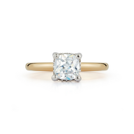 Bridal Rings: Hidden Halo Engagement Ring with 1.20ct. Cushion Cut Diamond