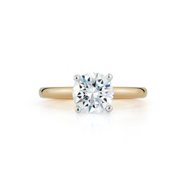 Bridal Rings: Solitaire Engagement Ring with 1.53ct. Round Brilliant