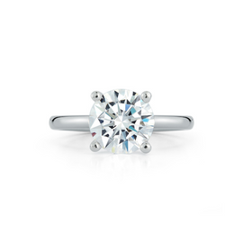 Bridal Rings: Solitaire Engagement Ring with 3.02ct. Round Brilliant