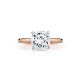 Bridal Rings: Hidden Halo Engagement Ring with 2.01ct. Round Brilliant