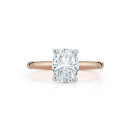 Bridal Rings: Solitaire Engagement Ring with 1.01ct. Oval Diamond