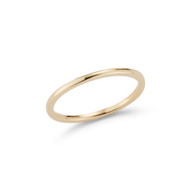 Yellow Gold-1^Gold Bands: DRD Skinny Stacking Band in Yellow Gold