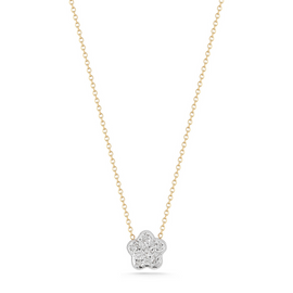 Yellow Gold-1^Designer Diamond Necklaces: Rima Naya Flower Necklace in Yellow Gold