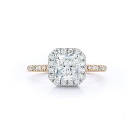 Halo Engagement Ring with 2.0 ct. Radiant