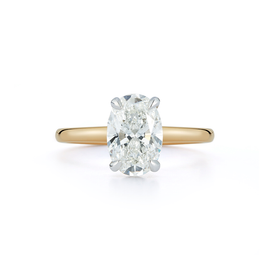 Solitaire Engagement Ring with 2.0 ct. Oval Diamond
