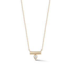Yellow Gold-1^Diamond Bar Necklaces: Reese Brooklyn Knife-Edge Bar Necklace in Yellow Gold