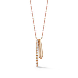 Yellow Gold-1^Diamond Bar Necklaces: Reese Brooklyn Knife-Edge Drop Necklace in Yellow Gold