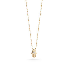 Yellow Gold-1^Hamsa Jewelry: Donna Kay Gold Hamsa Necklace in Yellow Gold
