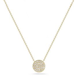 N253:Lulu Jack Bezel Bar Necklace Yellow Gold
