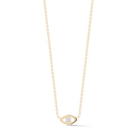 Yellow Gold-1^Evil Eye Gold Necklaces: Carly Michelle Diamond Evil Eye Necklace in Yellow Gold