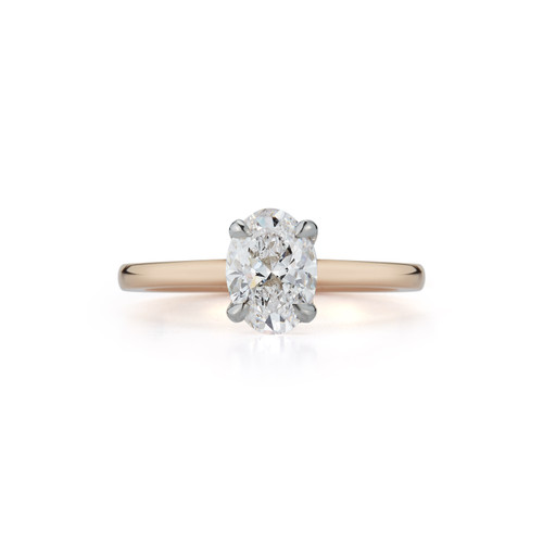Solitaire Bridal Ring with 1.01ct. Oval
