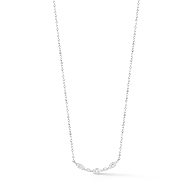 Alexa Jordyn Marquise and Round Curve Necklace