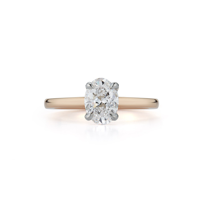 Solitaire Engagement Ring with 1.01 ct. Oval