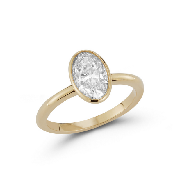 Oval Bezel Engagement Ring with 1.52 ct. Oval