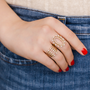 Pearl Ivy Open Stacked Cocktail Ring