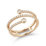 R1696: Dana Rebecca 14k gold pavé diamond wrap ring