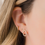 E4283: Lulu jack open oval diamond studs