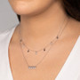 Taylor Beth Multi Disc Bar Necklace