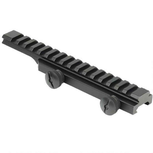 Weaver AR-15 Flat Top Picatinny Riser Rail Aluminum Black 48372