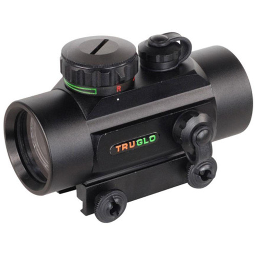 Truglo Dual Color 30mm Red Dot Scope 5 MOA Dot Black, TG8030DB