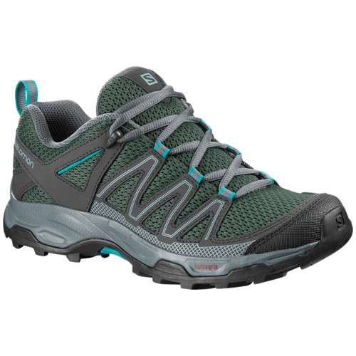 Salomon Women's Pathfinder Trail Shoe Stormy Weather/Phantom/Tropicla Green