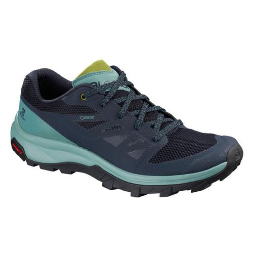 Salomon Women's OUTline GTX Hiking Shoes Trellis/Navy Blazer/Guacamole