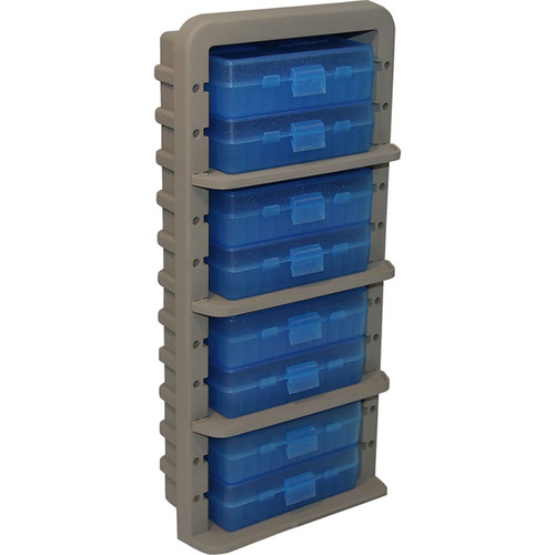 MTM AR9M 9MM AMMO RACK WITH 8 P50-9M-24 AMMO BOXES