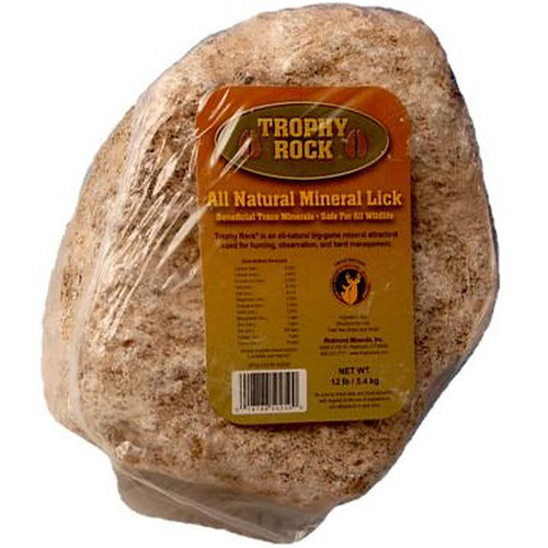 Trophy Rock All Natural Mineral Lick Rock For Deer 12 Pounds, T50250