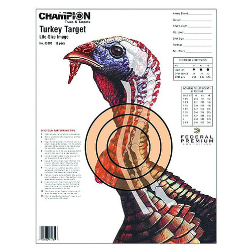 "Champion Turkey Sight In Target Life Size 11""x14"" Paper 12 Pack, 45780"