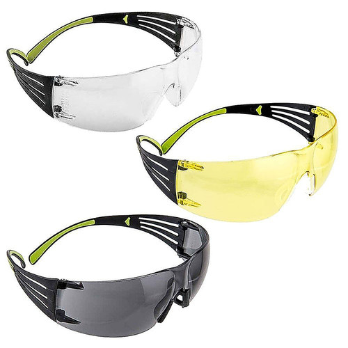 Peltor Sport SecureFit Eye Protection Gray, Amber, and Clear, SF400-P3PK-6