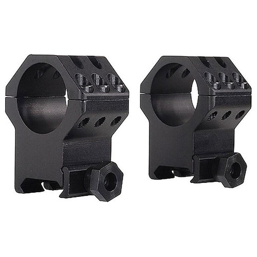 Weaver Six Hole Tactical Scope Rings One Inch Extra High Matte Black, 48353