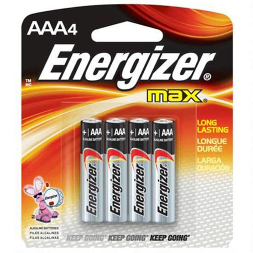 Energizer Max AAA Alkaline Battery 4 Pack