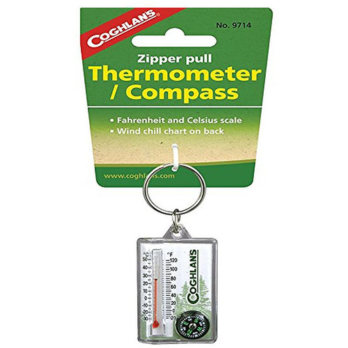 Coghlan's Zipper Pull Thermometer/Compass