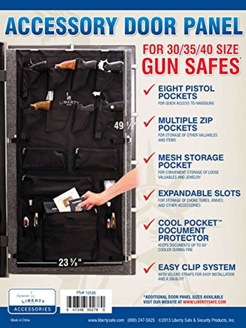 Liberty Safe Gun Safe Door Panel Organizer for Holding Pistols and Important Documents, 10586