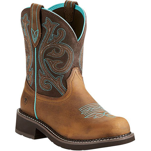 Ariat Women's Fatbaby Collection Western Cowboy Boot Distressed Brown/Fudge