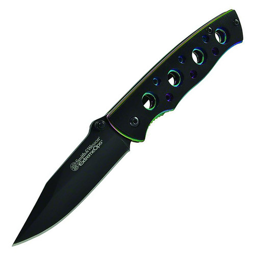 """Smith & Wesson Extreme Ops 2.7"""" Iridescent Handle Black CK113"""