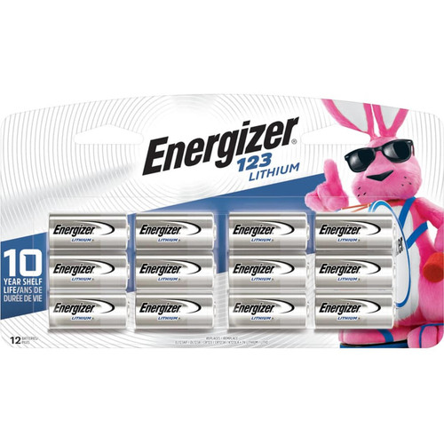 Energizer Lithium 123 Battery 12 Pack