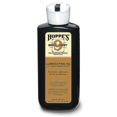 Hoppes Bench Rest Lubricating Oil with Weatherguard 2.25 Oz Bottle, BR1003