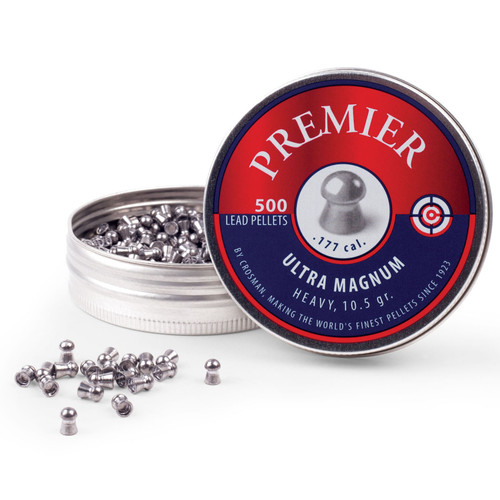 Crosman LUM77 Premier Ultra Mag Airgun Pellets 177 Cal 10.5gr RN 500ct