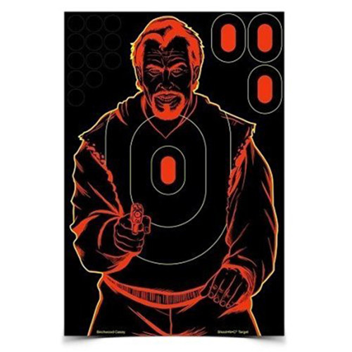 "Birchwood Casey Shoot-NC Bad Guy 12"" x 18"" Silhouette Target, 5 Pack, 34645"
