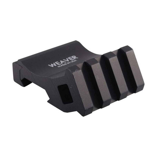 Weaver Offset Picatinny Rail Adaptor Aluminum Matte Black, 99671